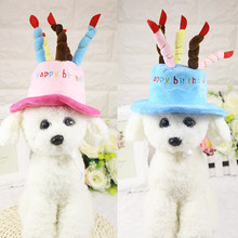 Dog Birthday Cute Pets Cats Caps Adjustable Corduroy Colorful Candles Small/Medium Hat Puppy Cosplay Costume Headwear
