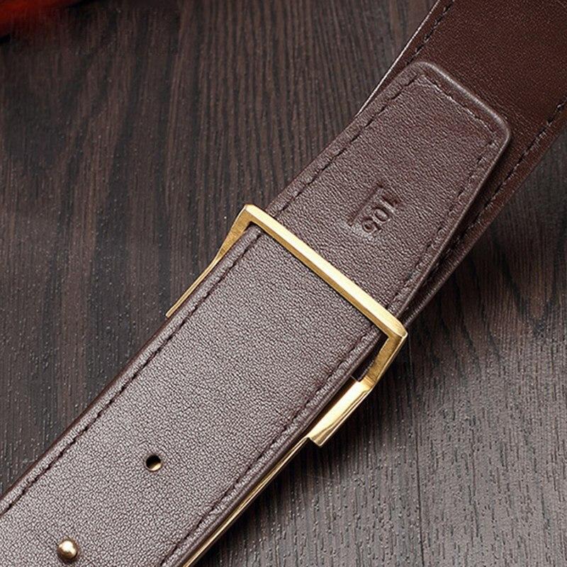 McParko крокодиловые мужские ремни роскошные пояса из натуральной кожи мужские оригинальные брендовые дизайнерские пряжки леопардовые джинс... - 6