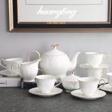 European coffee cup set British afternoon tea ceramic bone china teapot household simple