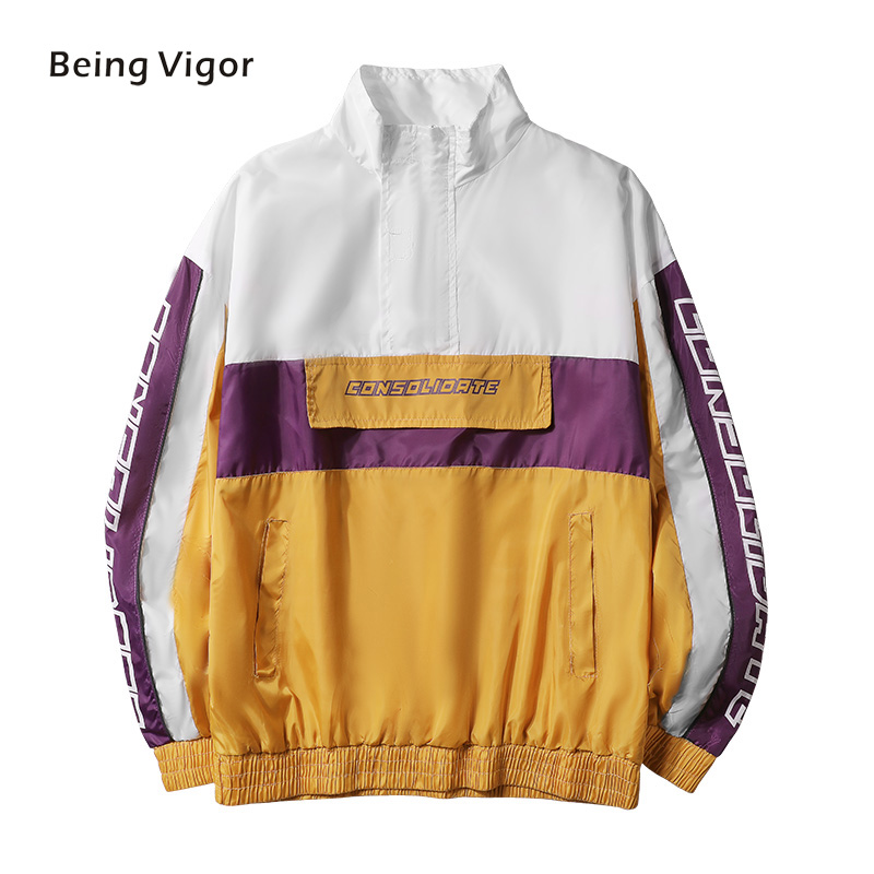 Mens Anorak Jackets Men Hip-Hop Outwear Spring Sport Windbreaker Casual Outdoor Men Autumn Fall Coat Streetwear Top 5XL