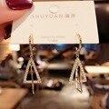 Модные милые бриллиантовые геометрические жемчужные серьги, модные ювелирные изделия, серьги, женские квадратные серьги, индивидуальные с...
