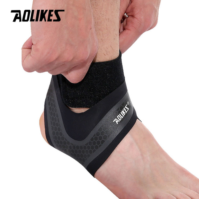 1PC Compression Ankle Protectors Anti Sprain Outdoor Basketball Football Ankle Brace Supports Straps Bandage Wrap Heel Protector