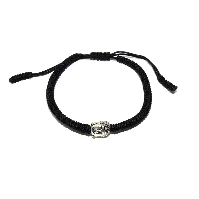 Classic hand-woven woven Tibetan Buddhism knot bracelet Lucky Buddha head bracelet Men's and women's jewelry Send him/her gift