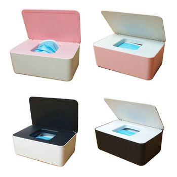 Baby Wet Wipes Dispenser Tissue Storage Box Mouth Masks Case Holder with Lid недорого