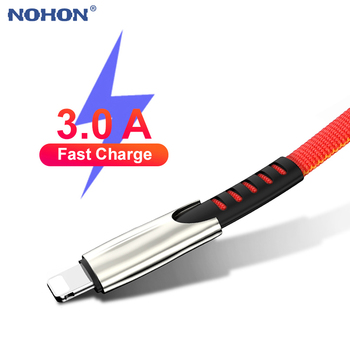 1m 2m 3m Data USB Charger Cable For iPhone 11 Pro Xs Max XR X 8 7 6 s 6s Plus iPad Mini 3A Fast Charging Mobile Phone Cord Long 1