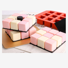 New 15 Cavity Cube Square Shape Silicone Mold for Cake Decorating Tools DIY Dessert Moulds For Kitchen Rubik's Baking