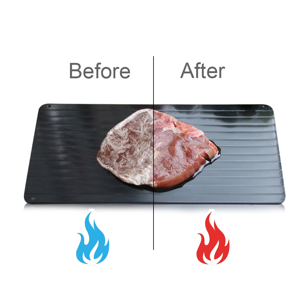 Image 2 - Fast Defrosting Plate Thaw Tray  Froze Defrost Meat Fruit Food Quick Defrosting Plate  Thaw Board( Include 4pcs Protect Corner)Defrosting Trays   -