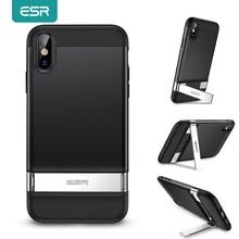 ESR สำหรับ iPhone XR X XS Max SE 2020 8 7 Plus โลหะ Kickstand กรณีฝาครอบกันชนสำหรับ iPhone SE 2020 XS X Funda