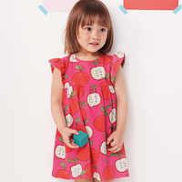 Little maven-vestido de algodón con bolsillo de princesa para niña, flamenco, 2-7 años, para verano