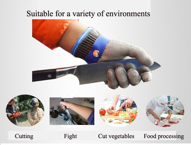 Anti-cut Gloves Safety Cut Proof Stab Resistant Stainless Steel Wire Metal Mesh Butcher Cut-Resistant Gloves