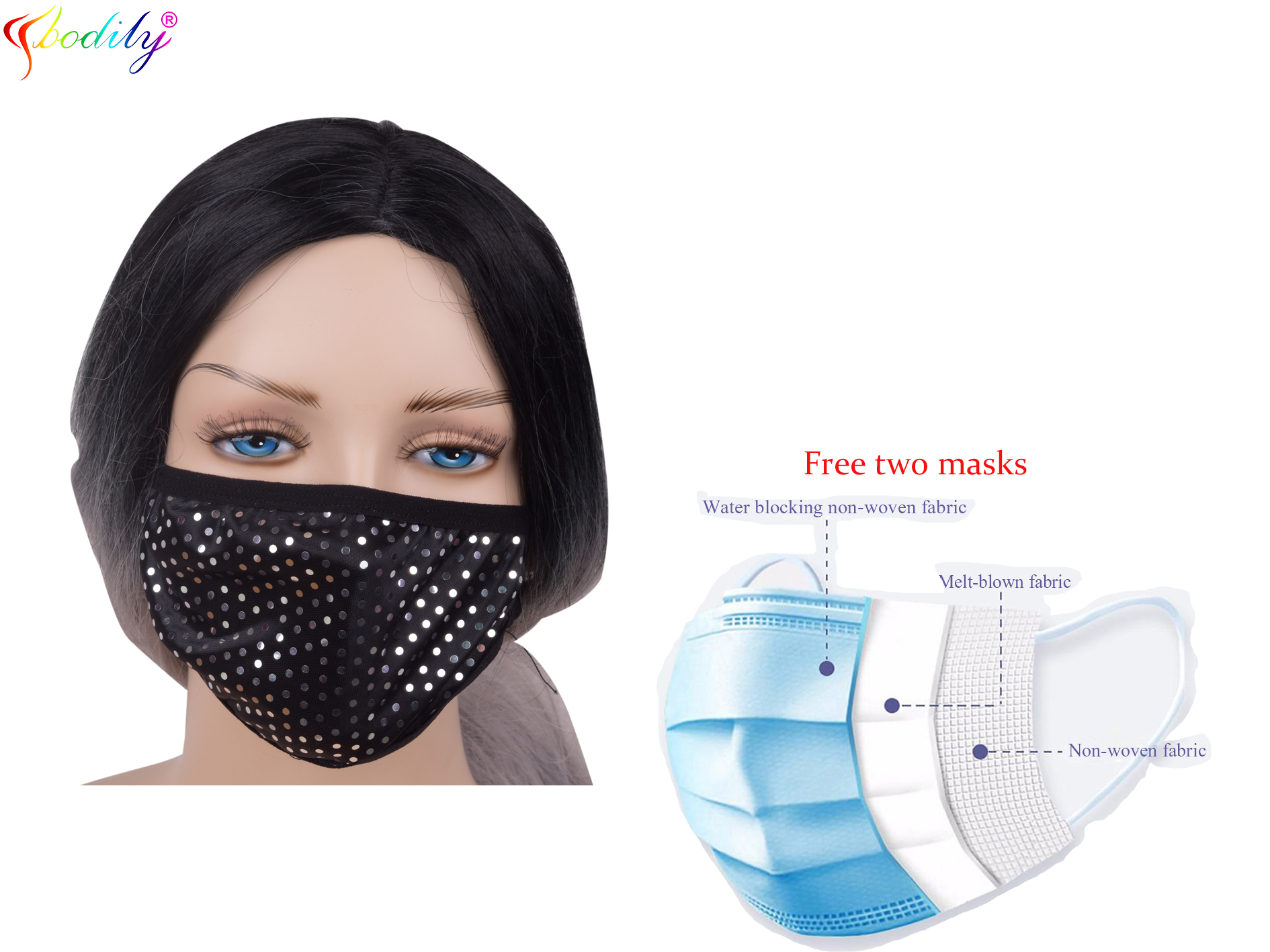 Fashionable Halloween Easter Carnival Mask Luminous Costume Jewellery Mask Riding Face Mask Party Easter Decoration Gift SA-7