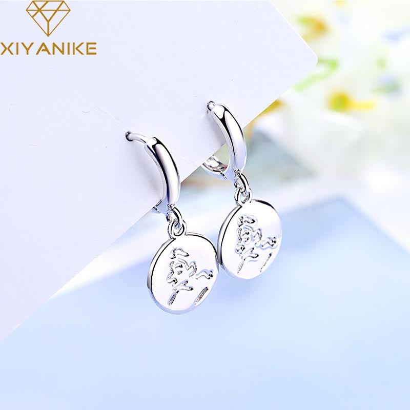 XIYANIKE Newly Arrived 925 Sterling Silver Prevent Allergy Drop Earrings For Women Couple Simple Geometric Handmade Jewelry