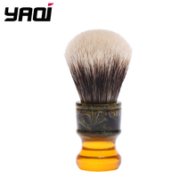 Yaqi 22 ミリメートル sagrada ファミリア 2 バンドアナグマ髪樹脂ハンドル男性シェービングブラシ