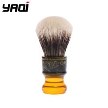 Yaqi pinceis de barbear masculinos, pincéis de barbear com cabo de resina para homens, 22mm