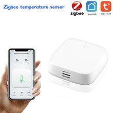 Tuya inteligente zigbee sensor de temperatura sensor ambiente umidade casa inteligente controle conexão zigbee ligação inteligente