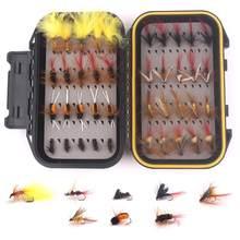 40 adet karışık biyonik sinek balıkçılık aksesuarları kiti su geçirmez balıkçılık cazibesi Combo Set güz dayanıklı sahte yem kutusu mücadele