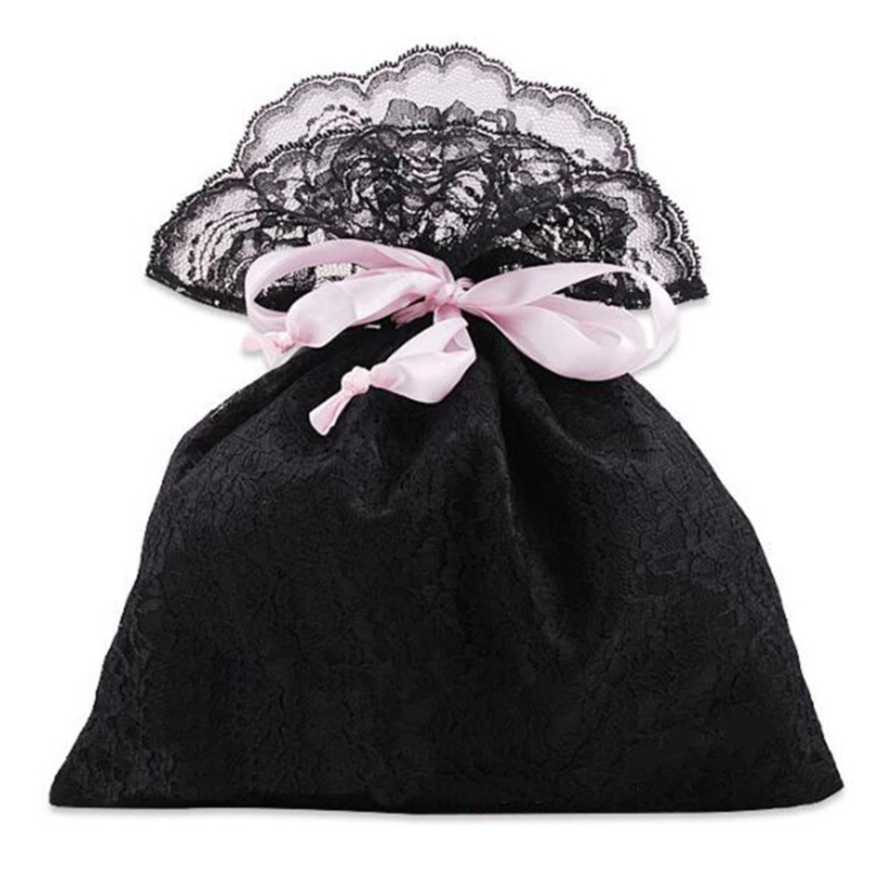 Satin Silk Lace Drawstring Storage Pouch Packaging Gift Pocket Underwear Small Erotic Sex Toys Cute Organizer Dust-proof Bag