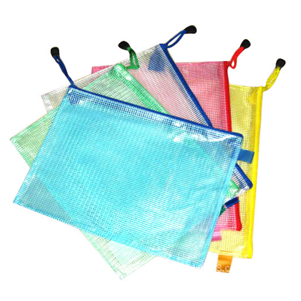 A3/A4/A5/A6/B4/B5/B6 Grid Transparent Document Bag PVC Zipper Stationery Pouch Filing Products Bag