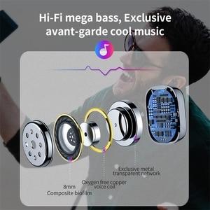 Image 5 - Baseus W01 TWS אמיתי אלחוטי Bluetooth אוזניות 5.0 חכם אלחוטי אוזניות עם מיקרופון 6D סטריאו קול אוזניות אוזניות עבור טלפון