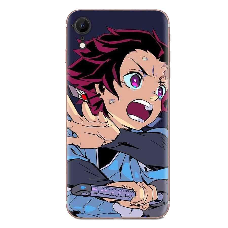 Anime demonio asesino Kimetsu No Yaiba para Sony Xperia Z Z1 Z2 Z3 Z4 Z5 Mini compacto M2 M4 M5 T3 E3 E5 XA XA1 XZ Premium