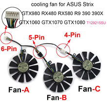 Computer fans Cooling fan For ASUS Strix GTX 1060 1070 1080 GTX1080Ti RX 480 580 R9 390 T129215SU 87MM Graphics Card Cooler Sale