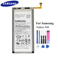 Uma verdadeira Bateria EB-BG973ABU para Samsung Galaxy S10 S10X SM-G973 G973F G973U G973W G9730 Celular 3300mAh Batteria Akku + Ferramentas