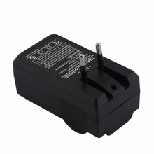 цена на Battery Charger 18650 Double Charging Ports Black EU Plug 100-240V Wall Battery Charger Quick Charge Compatible Phone Charger