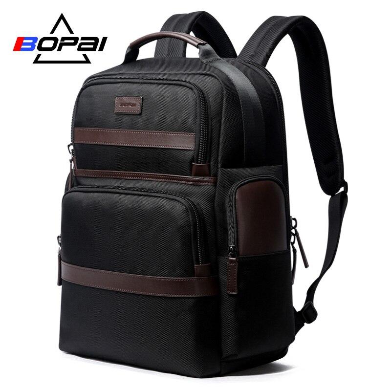 Мужской рюкзак BOPAI, повседневный деловой рюкзак из Оксфорда для ноутбука и офиса, большой школьный рюкзак для мужчин