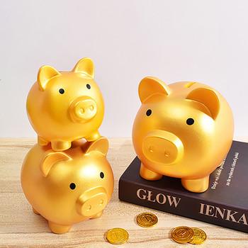 Śliczne skarbonka śliczne plastikowe świnia skarbonka dorosłych niezniszczalny skarbonka świnia skarbonka skarbonka oszczędności pudełko na monety dla chłopców dziewcząt tanie i dobre opinie CN (pochodzenie) MATERNITY W wieku 0-6m 7-12m 13-24m 25-36m 4-6y 7-12y 12 + y Golden Pig Savings Creative Children s Educational Gift