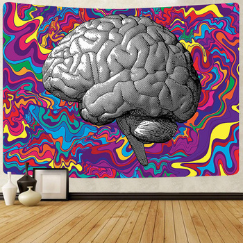 Simsant Psychedelic Shrooms Tapestry Colorful Abstract Trippy Tapestry Wall Hanging Tapestries for Home Dorm Fantasy Decor 7