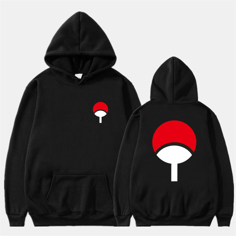 2019 New Anime Naruto Winter Hoodies Fleece Warm Jacket Coat Uchiha Hatake Uzumaki Clan Badge Hoodie Sweatshirt Unisex Clothes