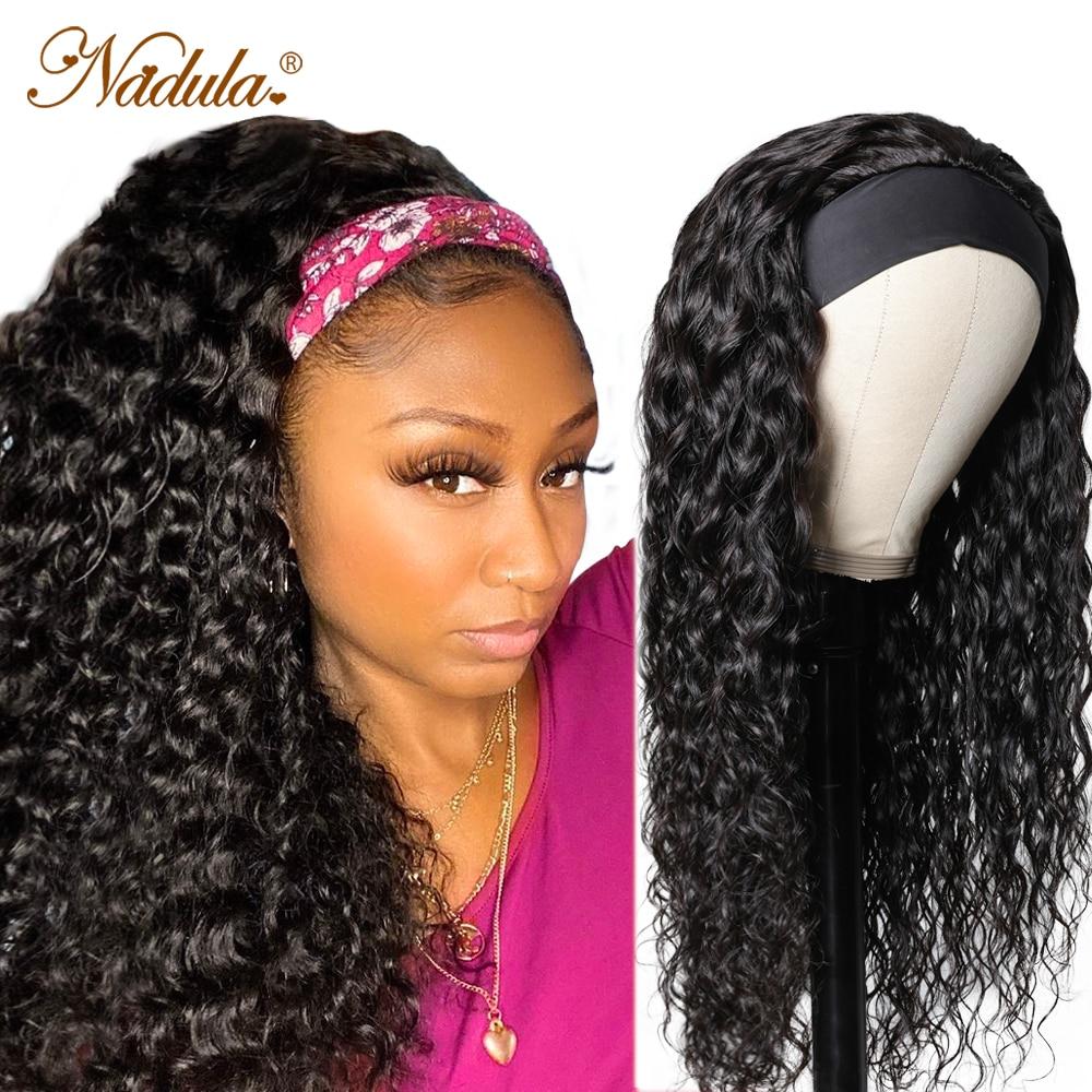 Nadula Wig Water Wave Headband  Wig Glueless Headband Wig   Half Wig  Fashion Style 1