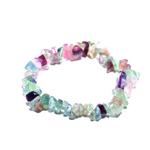 DMCBFP012 Fluorite with Natural Pearl Elastic Bracelet Fashion Bracelet for Women(China)