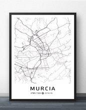 Murcia palma sevilha valência valladolid vigo vitoria-gasteiz saragoça poster quadros