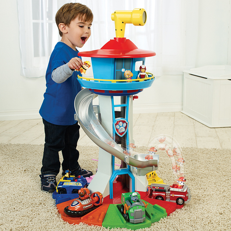 Original Paw Patrol 65cm Oversized Rotating Watchtower with Sound and Light Christmas Gift for Children (23 Free Gifts)