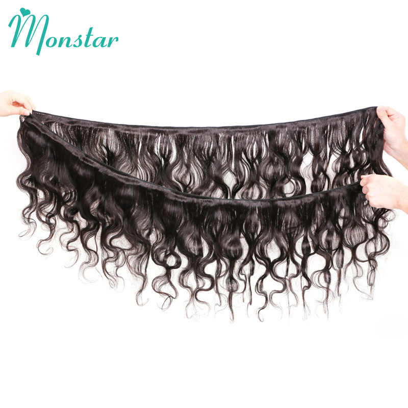 Monstar 8-34 36 38 40 Inch Braziliaanse Remy Weft 3/4 Bundel Menselijk Haar Lichaam Wave Bundel natuurlijke Kleur Hair Extensions