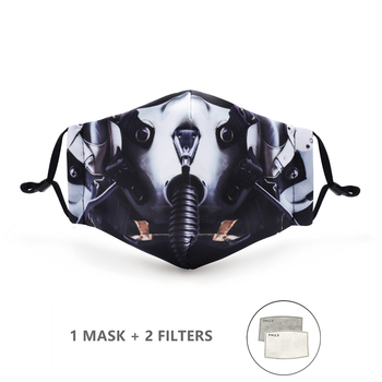 Variation #6 of fashion reusable protective pm2.5 filter printing mouth mask anti dust face mask windproof mouth-muffle bacteria proof flu mask