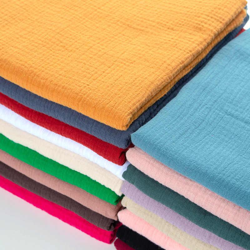 Suave Algodón Lino Tela Hágalo usted mismo material orgánico Natural Craft Vestido Paño De Cortina