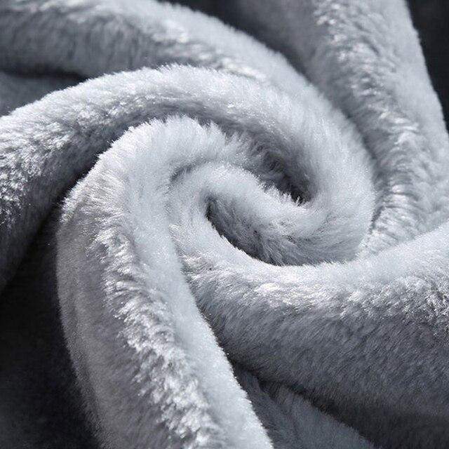 2020 Winter Thick Men Sports Suit Tracksuit Hooded Sportswear Zipper Cardigan Hooded+Elastic Pants Casual Men Fleece Warm Sets 5