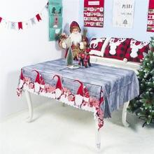 Рождественская скатерть мультяшная из полиэстера моющаяся 150*180