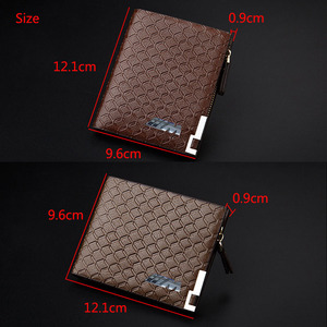 Image 5 - Black/Light Bronw/Dark Brown Top PU Leather Car logo Bag Card Package Wallet Coins Bag Silver M Power Free Shipping