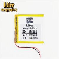385465 3 7 V 2000MAH 355565 405565 Polymer Lithium-Li-Po Akku Für GPS DVD e-book tablet pc power bank