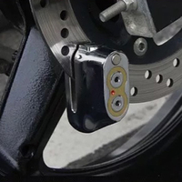 Scooter Disc Brake Lock Sturdy Universal Durable Practical Padlock Key Protect Anti Theft Motorcycle Fixed Dual Core Security
