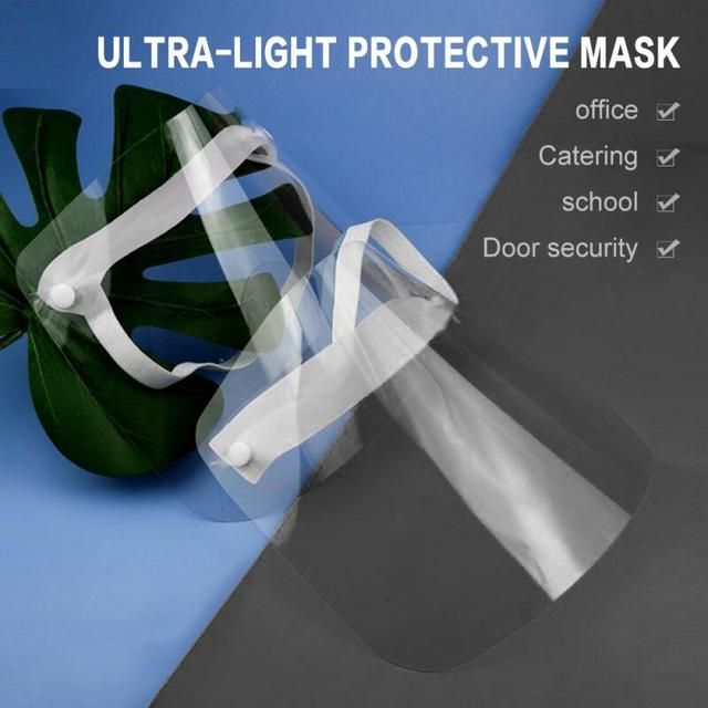 Motorcycle Full Face Saliva Respirator Ultra-light Protective Mask Anti Cooking Oil Splash Face Shield Full Face Cover Visor 3