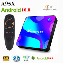 X88 pro android 10 smart tv box 2020 caixa de tv 4gb 128gb rk3318 quad core 8k hd 2.4g/5ghz wifi youtube 3d media player conjunto caixa superior