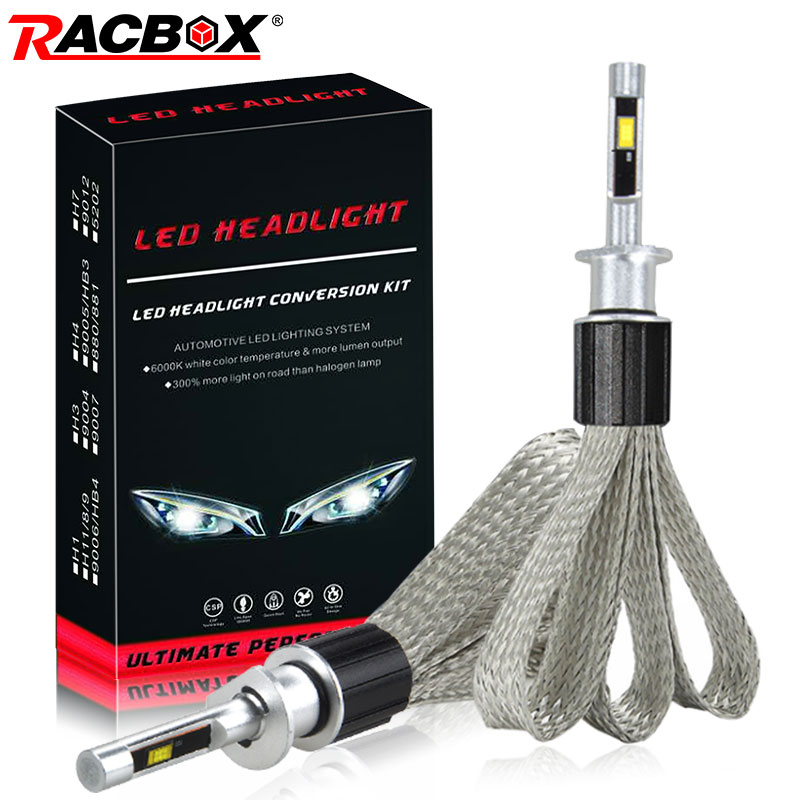 H1 <font><b>LED</b></font> Headlight Bulb Light <font><b>Lamp</b></font> Kit 72W 36W 7000LM H7 H8/H9/H11 9005/HB3 9006/HB4 H4 Car <font><b>LED</b></font> Headlights Bulbs Copper Braid Wire image