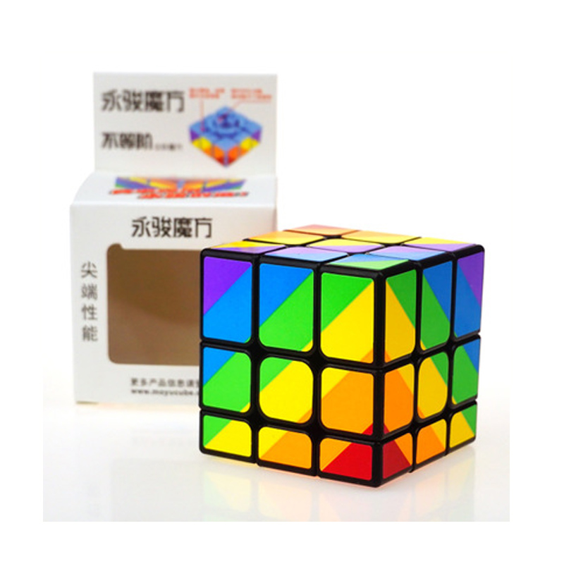 YJ Speed Magic Cube Profession Puzzle Education Strange-shape 56mm Rainbow Color Cubes Game Children's For Magico Cubo Toys Gift