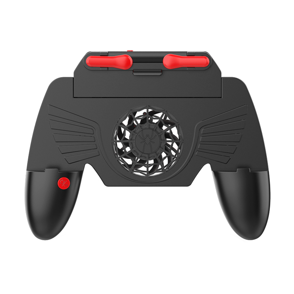Gamepad Trigger Fire Button Controller Portable Dustproof Portable Carrying Decor with Cooling Fan for PUBG COD Mobile image