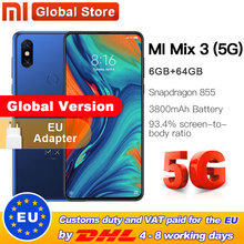 Globale Version Xiao mi mi mi x 3 5G Net 6GB 64GB ROM Smartphone Snapdragon 855 6,39 ''3800 mAh 24.0MP Vorne Kamera 5G