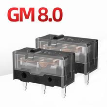 4 pces kailh micro interruptor 80m vida gaming mouse micro interruptor 3pin ponto preto usado no computador ratos botão esquerdo direito kailh gm preto